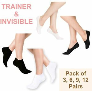 TRAINER SOCKS INVISIBLE 100% Cool Sports Ankle Socks Cotton No Show Men Wome lot