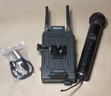 Microfono a mano Sony Broadcast montato su Adattatore V-look CA-WR855 - Usato