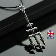 Retro Percy Jackson Poseidon tridente Colgante Collar-Reino Unido Stock