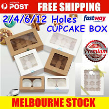 Cupcake Box Range 2 hole 4 hole 6 hole 12 hole Window Face Cases Party Boxes
