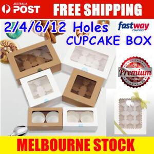 Cupcake Box Range 2 hole 4 hole 6 hole 12 hole Window Face Cases Party Boxes