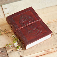 Fair Trade Handmade Indra Buddha Leather Journal Notebook Diary