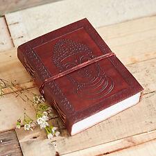 Fair Trade Fatto A Mano Indra Buddha in Pelle Notebook Giornale Diario
