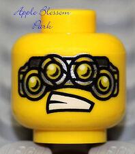 NEW Lego Agents MINIFIG HEAD - Spy Clops Villian w/4 Goggle Eyes - Alien Monster