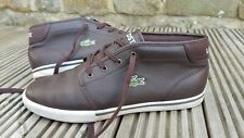 Men's LACOSTE Brown Leather Chukka Boots, UK 9, Genuine, good condition