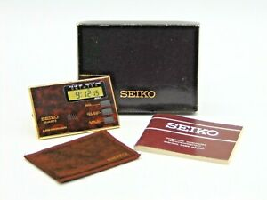 Seiko Super Slim Size Alarm Clock in Original Box with Pouch and Papers (AP162W)