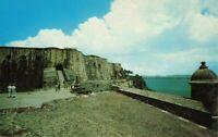 Postcard Massive Walls of Castillo El Morro San Juan Puerto Rico