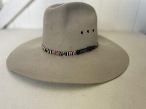VINTAGE AKUBRA PURE FELT HAT 55 RUSTIC
