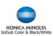 Konica Minolta bizhub Copier Service & Parts Manuals on 5 DVDs 12GB Color & B/W