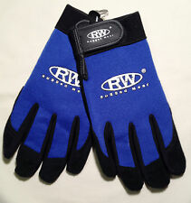 Rugged Wear Men's Work/Drive Wrist Glove Pigskin Suede Palm-Spandex Back, M,L,XL