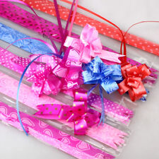 30mm LARGE Ribbon Bows assorted colours easy pull flower party decoration