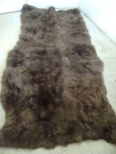 MINT BROWN SHEEPSKIN LAMB FUR SKIN HIDE RUG CARPET MAT