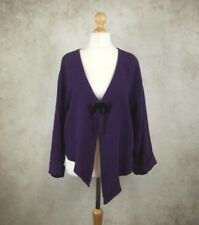 Completo Lino by Arthurio Purple Linen Asymmetric Jacket Size XL Lagenlook