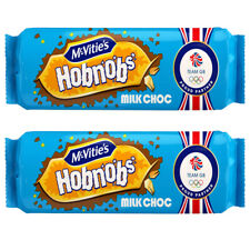 McVitie's Hobnobs Milk Choc Biscuits 431g No Artificial Colour Flavour 2x Packs
