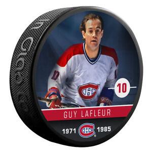 Guy Lafleur Montreal Canadiens NHL Alumni Photo Hockey Puck
