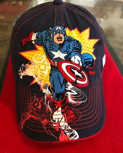Vintage Marvel Captain America Baseball Cap, Youth, from Early 2000's