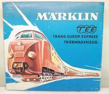 """Märklin H0 3071 Diesel-Triebwagen """"TEE"""" rot/beige 3-teilig, dunkelblaue OVP   J0"""
