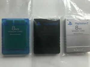 Various Official Sony 8MB Memory Cards For The Playstation 2 Choose You Colour