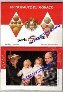 Monaco Euro BU 2020 Albert II  neuf sous blister NEUE KMS 1 cent to 2 euro NEW