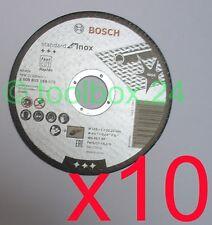 10 x Genuine Bosch FAST Metal Inox Thin Cutting Discs 115mm x 1mm x 22.2mm