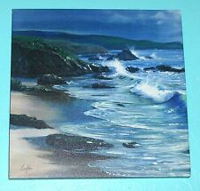 "12"" X 12""  T. LINKER ""SEASCAPE"" PRINT ON CANVAS"