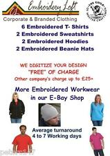 "PERSONALISED EMBROIDERED WORKWEAR UNIFORM. ""FREE"" DIGITIZING OF YOUR LOGO PACK10"