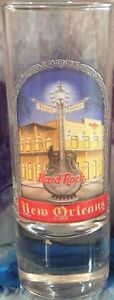 "Hard Rock Cafe NEW ORLEANS 2005 City Tee T-Shirt 4"" SHOT GLASS Cordial BARWARE"