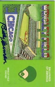 Billy Herman Signed Jsa Cert Sticker Cubs Postcard Authentic Autograph