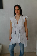 tunic dress tunique blanche HIGH USE taille 38  NEUF ÉTIQUETTE  * TOP LUXE *