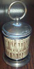 Vintage Retro Non-Filter Shorts Cigarette Holder Dispenser Basketweave Design