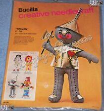 Vtg Bucilla TIN MAN Doll Wizard of Oz Fabric Kit
