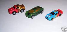 MICRO MACHINES CARS  RACE CAR # 16 CAR W/ FLAMES GREEN CAR SET/ 3 VINTAGE