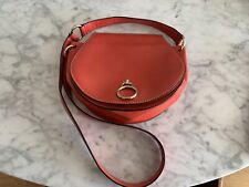 Red Leather Oroton Hand Bag