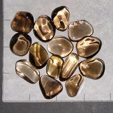 "SMOKY QUARTZ A Grade medium tumbled 1/4 lb bulk stones 3/4-1 1/8 "" smokey"