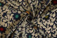 Indian 100% Cotton Voile Fabric Batik Print Sewing Hand Block Print Craft 5 yard