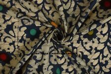 Indian 100% Cotton Voile Fabric Batik Print Sewing Hand Block Print Craft 5 yard