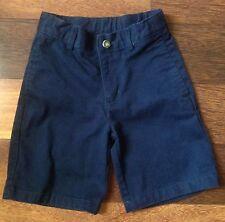 Boys Girls Dockers Flat Front Navy Shorts Adjustable Waist sz 5 School Uniform