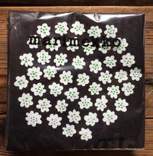 Marimekko paper napkins, 24x24cm Black Puketti, 20 counts Finland decoupage