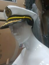 New Yacht Boat Captain Navy Sea Sailor Hat Cap Fancy Dress Skipper Marine Navy