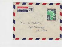 cameroun 1974 anniv. of l o.n.u hands & birds airmail stamps cover ref 20475