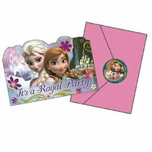 Disney Frozen Party Supplies Anna & Elsa Invitations (Pk.8)