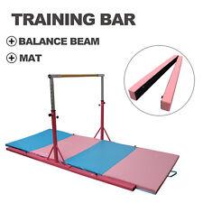 Junior Gymnastics Bar Folding Mat Horizontal Training Adjustable Balance Beam