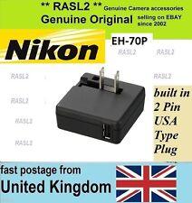 Genuino Original NIKON CoolPix AC adaptador cargador EH-70P, EH70P