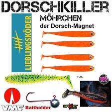 10 Teile DORSCHKILLER-SET LK Möhrchen +Fox Rage Spikey + VMC BAITHOLDER 6/0 55 g