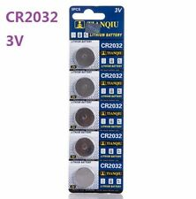 3V CR2032 DL2032 ECR2032 3 Volt Button Coin Cell Battery for CMOS watch toy x5 ☆