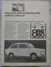 1967 Fiat 850 Idromatic Original advert