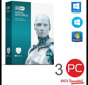 ESET NOD32 Antivirus 2021 ✅ 1 Year 3 Devices // Global License Key 🔑
