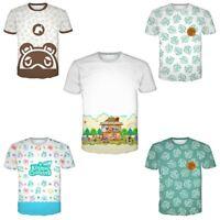 Unisex Game Animal Crossing Printing Shirt Short Sleeve Costume Couple Clothing