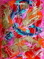 "painting street art abstract contemporary""aventure""60x80 cm sandra cremonese"