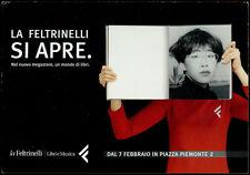 cartolina pubblicitaria PROMOCARD n.2865 LA FELTRINELLI LIBRERIA MUSICA MILANO